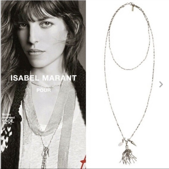 533e13bb3c Isabel Marant Jewelry - Isabel Marant H&M silver colored necklace